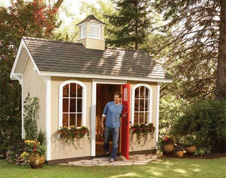 Home Dzine Home Diy Home Dzine Build A Wendy House - garden shed landscaping