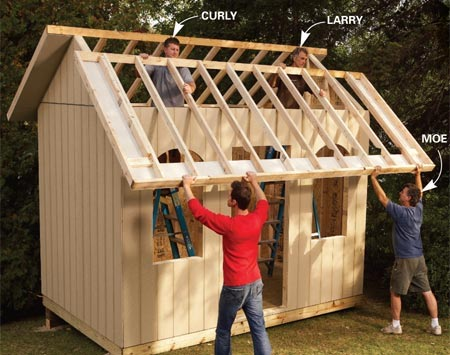 Home dzine home diy home dzine build a wendy house for Building a house step by step