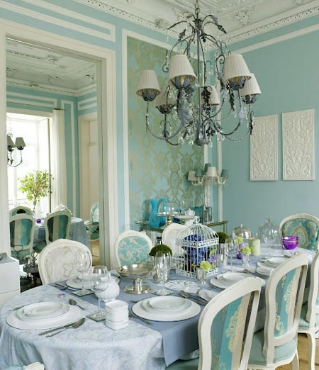 A home decorated in pastel shades