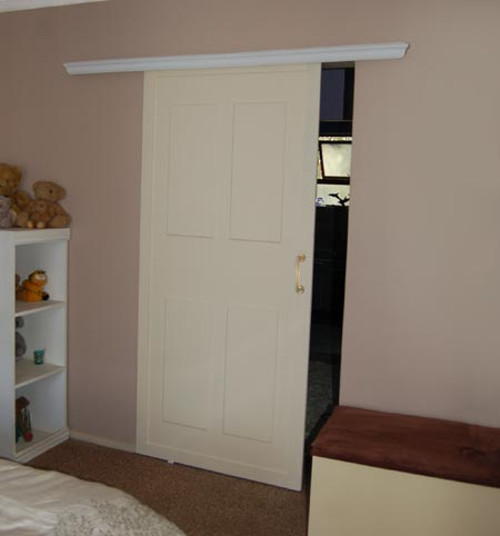 Home Dzine Bedrooms How To Install A Sliding Door