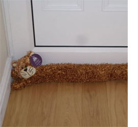 make a door sausage or draught excluder & HOME DZINE Green Living | Are you prepared for a cold winter?