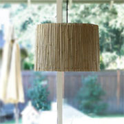 Upcycle bamboo blind into modern lamp shade