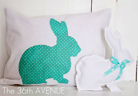 Sew a cute bunny cushion