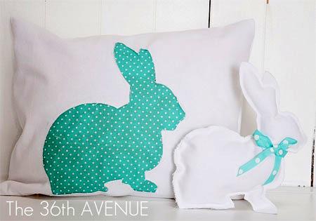 HOME DZINE Craft Ideas | Sew a cute bunny cushion