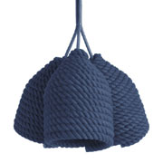 Lamp made of natural cotton rope