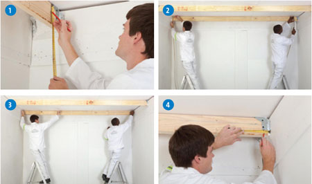 How to install a new ceiling