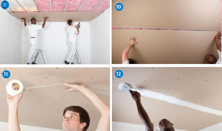 HOME DZINE Home Improvement | How to install flush plastered ceiling