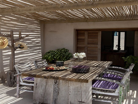 ABOVE And BELOW: A Simple Timber Structure And Natural Materials Are  Essentially All That You Need To Create A Small Patio. Whilst A Pergola Or  Roof That Is ...