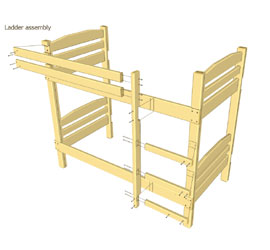 How to make a DIY bunk bed