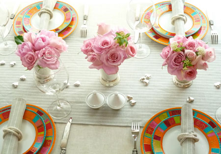 Set the table for spring pink