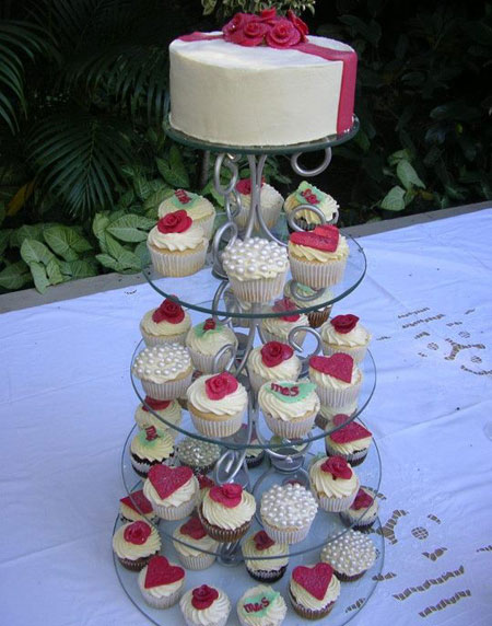 Gorgeous wrought iron cupcake stands