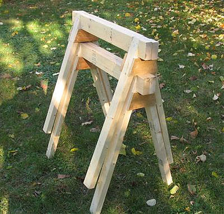HOME DZINE Home DIY | How to make a sawhorse