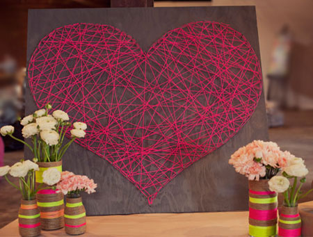 Home Dzine Craft Ideas String Art Heart