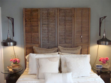 Home dzine craft ideas repurpose louvre doors or pine - Puertas de biombo ...