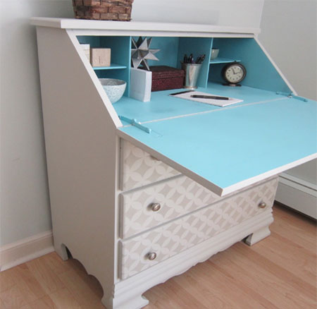painted drop leaf desk adhesive paper for furniture