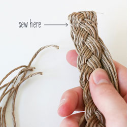 How to make a plaited twine belt