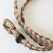 twine plaited belt