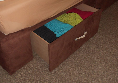 Make a storage base for a bed