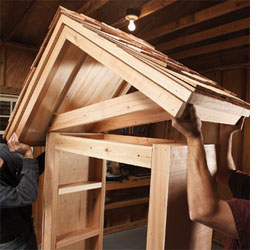 how to build a basic garden shed