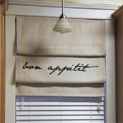 Make custom Roman blinds