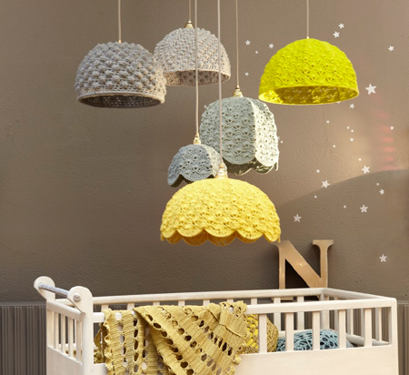 Home Dzine Craft Ideas How To Crochet A Lampshade