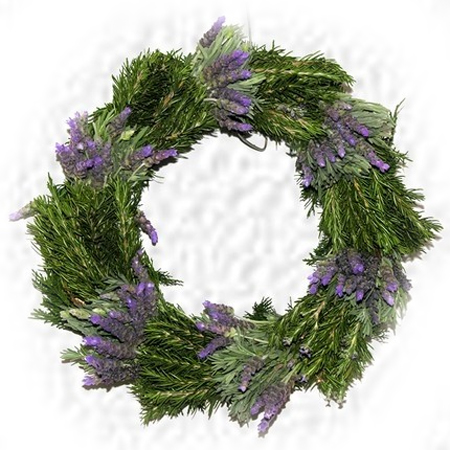 lavender holiday festive christmas wreath