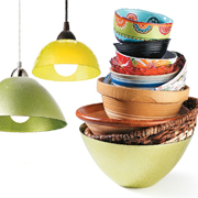 Bowls make great pendant lights