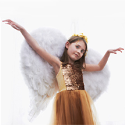 Make angel wings for a little girl