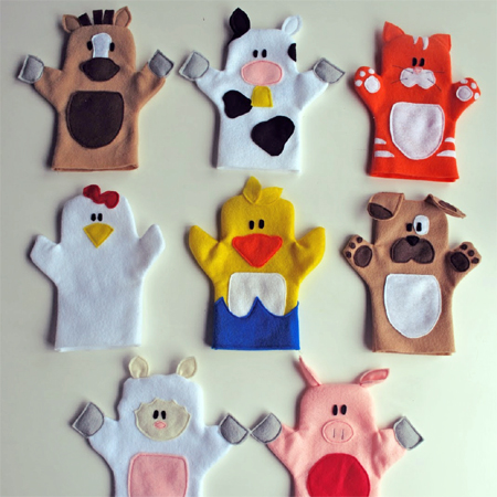 childrens hand puppets
