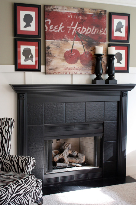 HOME DZINE Home Decor Paint Mantel And Fireplace Surround