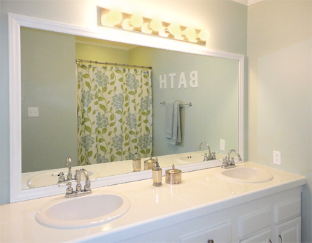 large framed mirror for bathroom home dzine bathrooms frame a bathroom mirror 23616