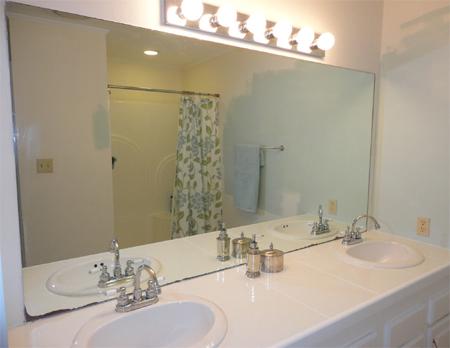Bathroom Mirror Za home dzine bathrooms   frame a bathroom mirror