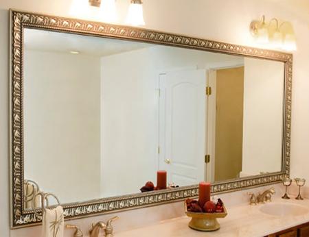 HOME DZINE Bathrooms | Frame a bathroom mirror