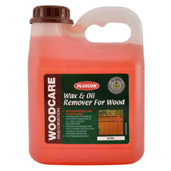 Wax and oil remover for wood