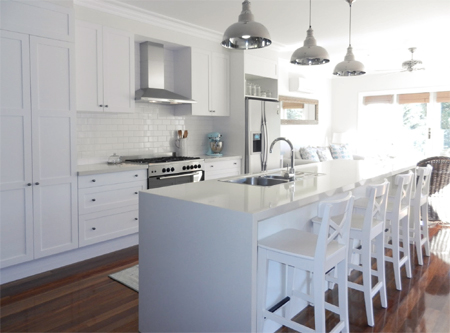 Decorate a home in white