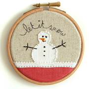Embroidered hoops as gifts and ornaments