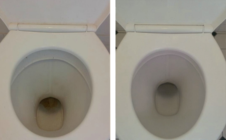 remove stains from toilet