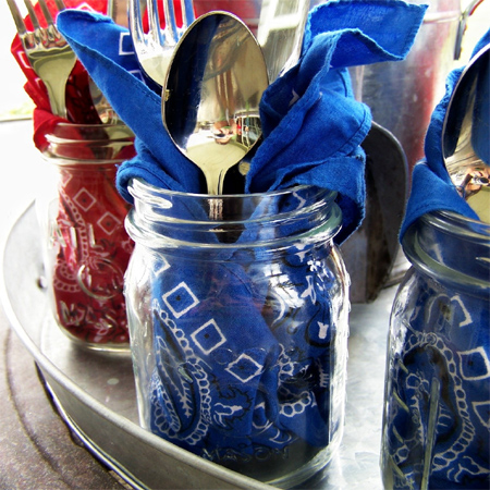 mason jar ideas cutlery holder