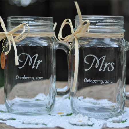 mason jar ideas engraved for gift