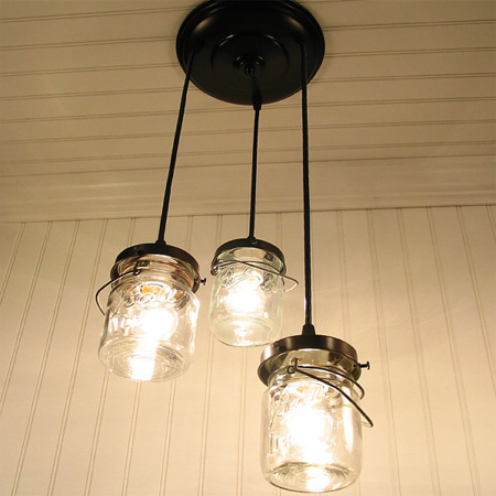 mason jar ideas unique light fixture