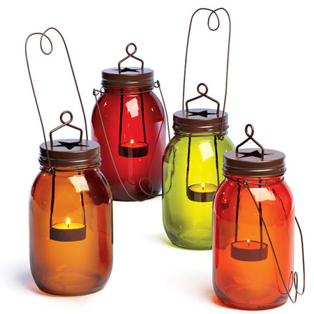 mason jar ideas decorative candle holders