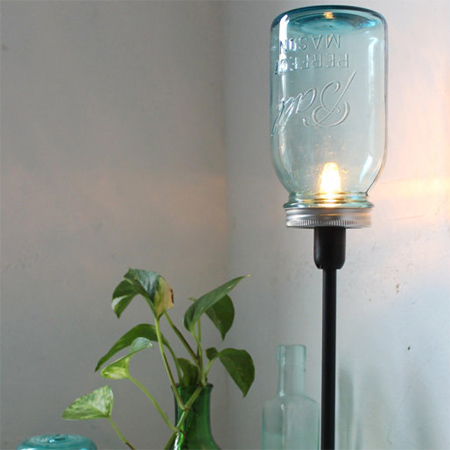 mason jar ideas standing lamp