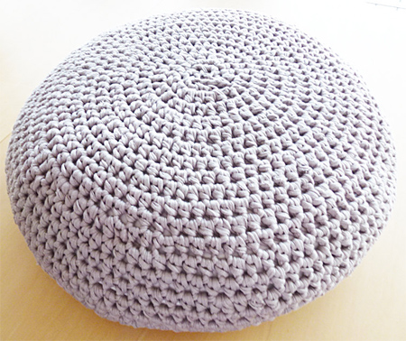 HOME DZINE Craft Ideas Crochet Or Knit A Pouf New Knitting A Pouf