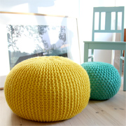 Knit or crochet a pouf