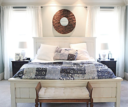 Home Dzine Bedrooms Diy Cottage Bed For Master Suite