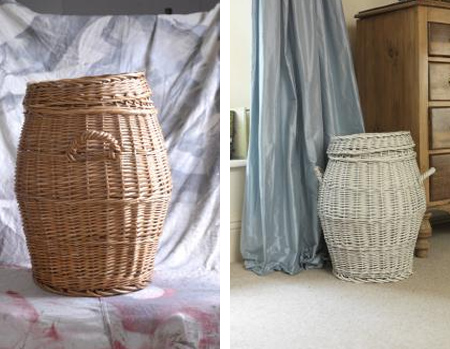 paint wicker baskets with rustoleum spray paint