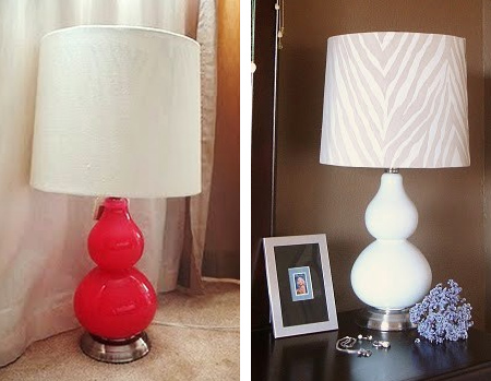 rustoleum spray paint to revamp table lamp