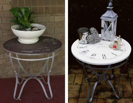revamp an old table with rustoleum spray paint