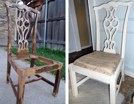 rustoleum spray paint for old dining chairs