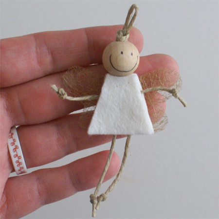 Cute little angel Christmas tree ornaments